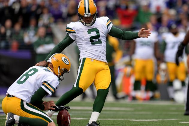 Kicker Crosby Back on Sure Footing with Packers