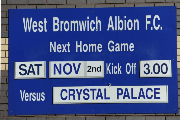 Crystal Palace Name Starting XI vs. West Brom