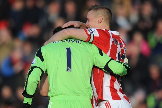 GIF: Goalkeeper Asmir Begovic Plays It Cool After Scoring for Stoke