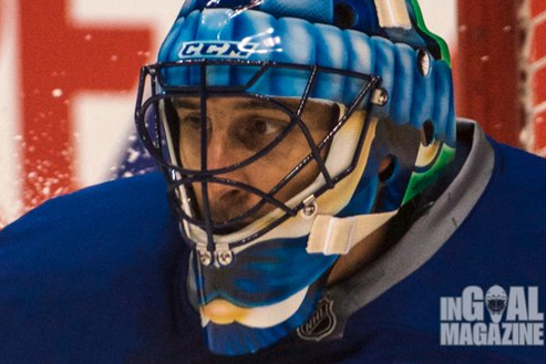 Luongo to Don Johnny Canuck-Themed Movember Mask, Complete with 'Mo'