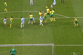 Yaya Toure Scores Stunning Free-Kick for Manchester City vs. Norwich City