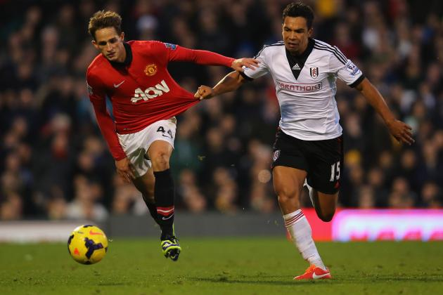 GIF: Manchester United's Adnan Januzaj Clashes with Fulham's Sascha Riether