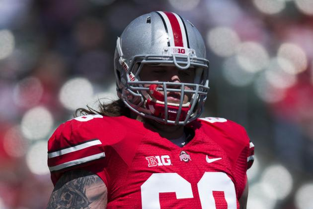 Ohio State RT Taylor Decker Will Not Return vs. Iowa Due to Knee Sprain