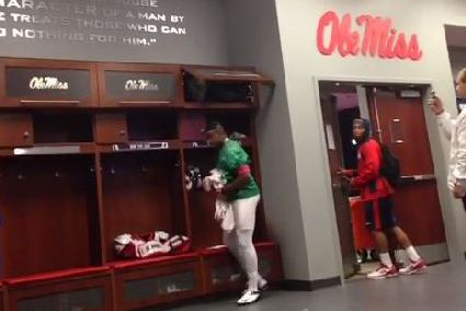 Ole Miss Backup Quarterback Cale Luke Pulls off Halloween Pranks on Teammates
