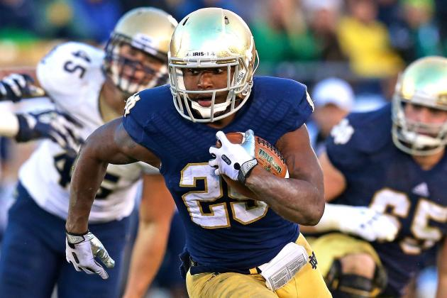 Notre Dame Barely Escapes Navy but Finds 2 Running Backs in the Process