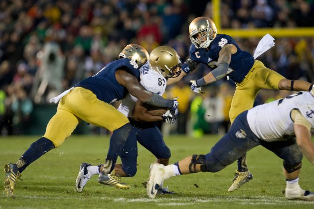 Defensive Injuries Mount for Notre Dame, but Irish Still Find a Way vs. Navy