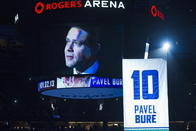 Video: Canucks Retire Bure's Number