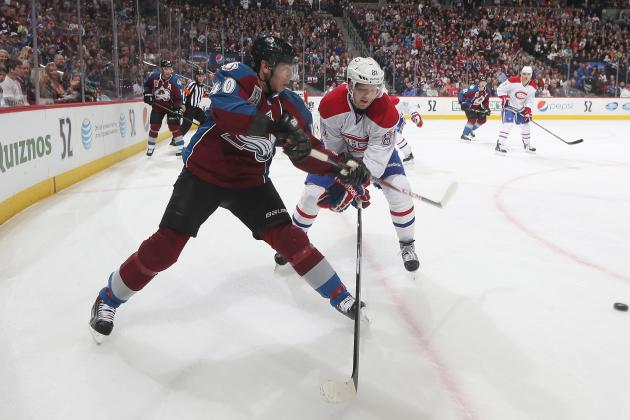 Avs' Tanguay Injures Knee, Won't Return Saturday