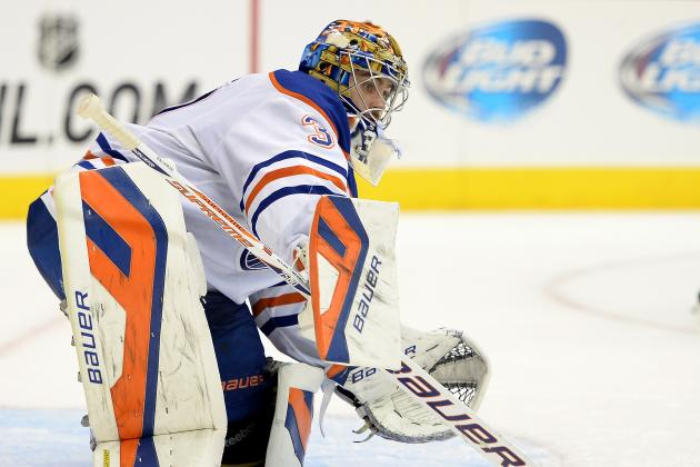 Edmonton Oilers Goaltender Richard Bachman Leaves with Groin Injury