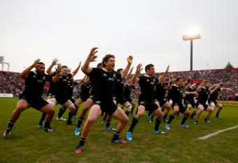 The Haka will be performed in Toronto today before the match.