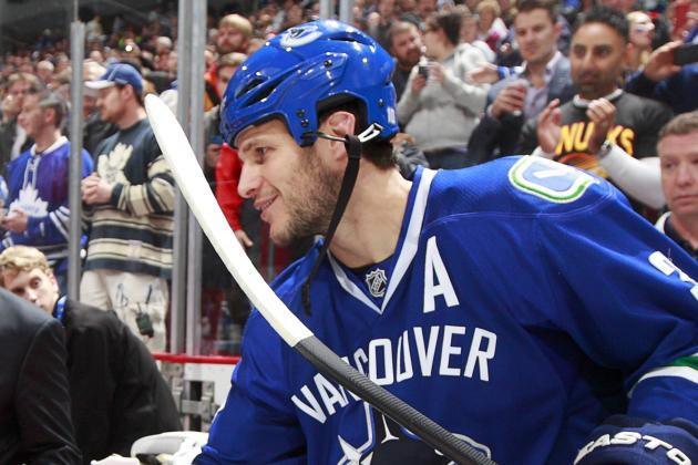 GIF: Kevin Bieksa Eats His Stick on the Bench
