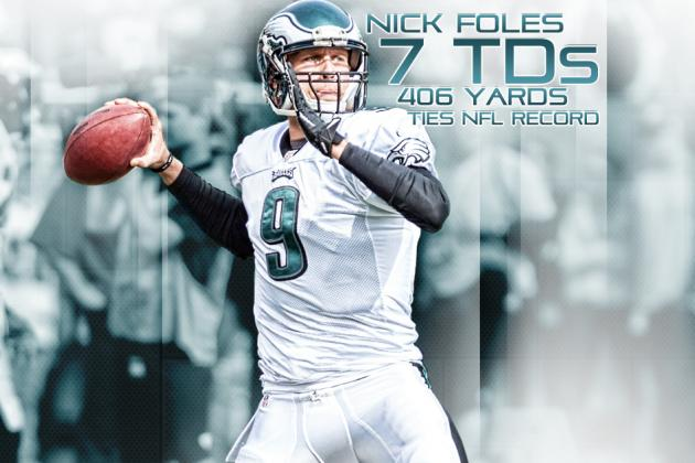 Nick Foles Ties NFL Single-Game Record with 7 Touchdown Passes