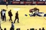 Watch the Utah Jazz Mascot DROP a Court Intruder