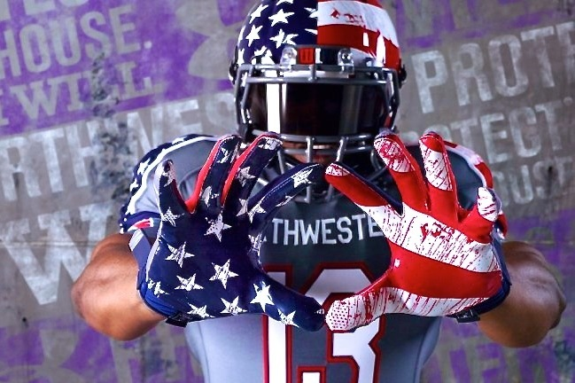 Northwestern to Wear Stars and Stripes vs. Michigan to Support Wounded Warrior