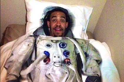JaVale McGee Is Ready for Liftoff with Astronaut Bed Sheets