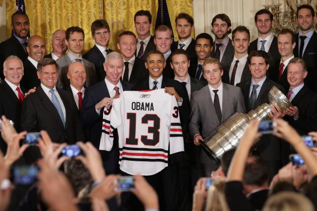 Stanley Cup Champion Chicago Blackhawks Visit President Obama at the White House