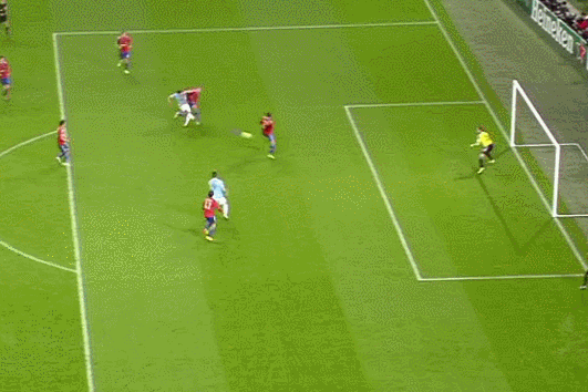 GIF: Sergio Aguero Scores for Manchester City Against CSKA in Champions League