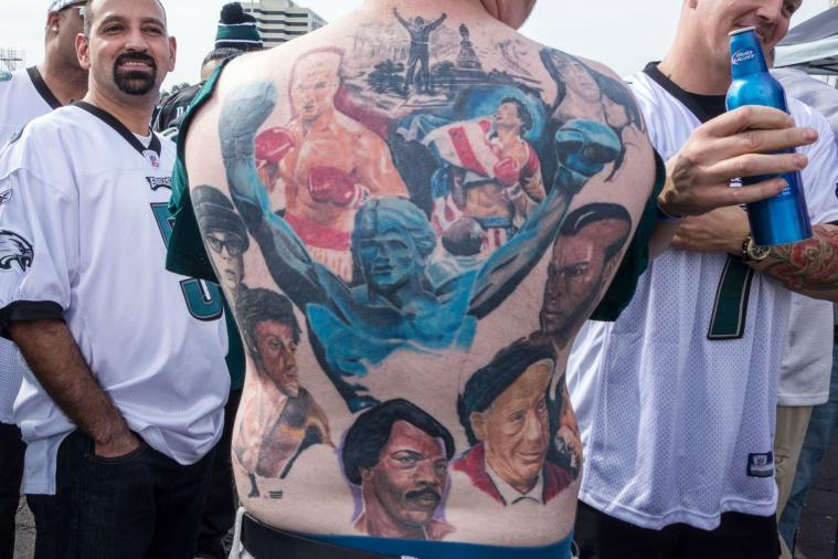 Philly Fan Has Massive 'Rocky' Tribute Back Tattoo