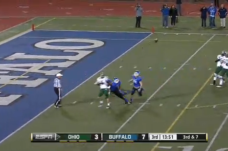 Ohio QB Tyler Tettleton Nailed with Phantom Safety Call vs. Buffalo