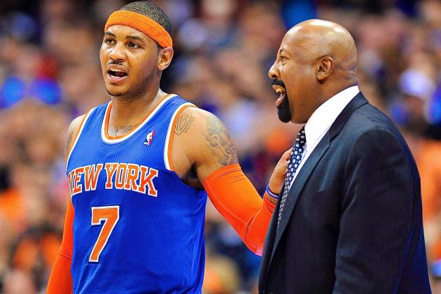 Without Tyson Chandler, Pressure Is on Carmelo Anthony, Mike Woodson to Deliver