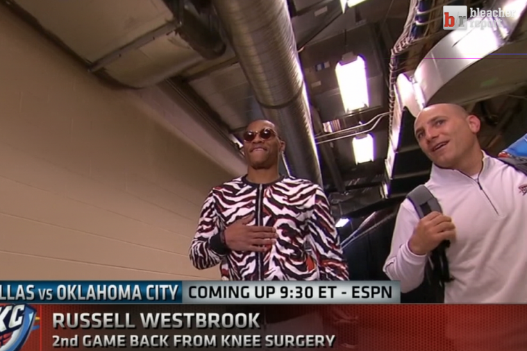 Russell Westbrook Is Back for His 2nd Game, Outfit Is in Midseason Form