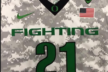 Photo: Oregon Basketball Has New Camo Jerseys for Armed Forces Classic