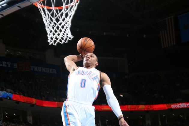 Russell Westbrook Slams Mavs with Coast-to-Coast Dunk