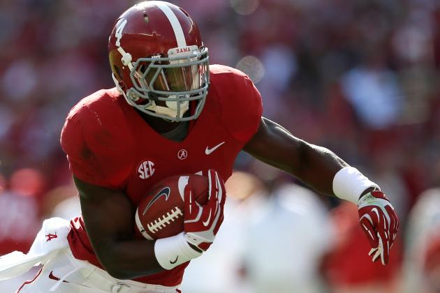 LSU vs. Alabama: In the Battle of RBs, T.J. Yeldon Has the Edge over Jeremy Hill
