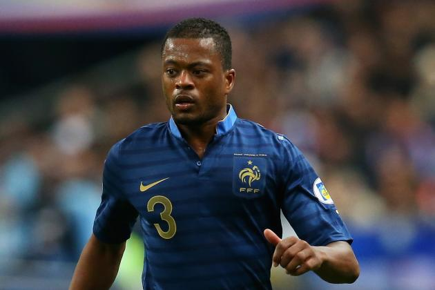 World Cup: France Coach Deschamps Picks Evra for Ukraine Playoff