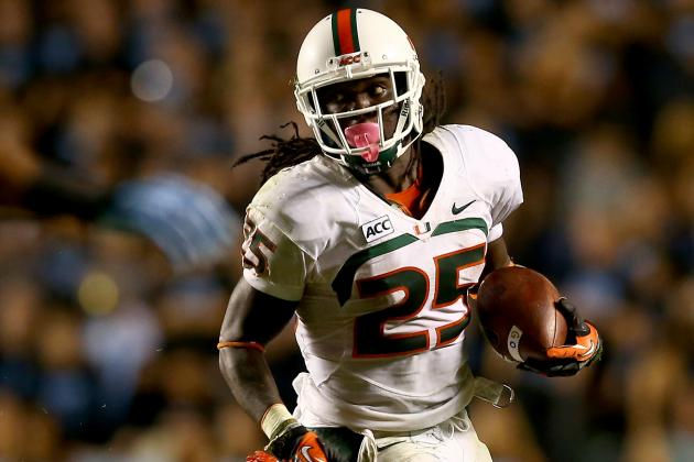 VT Doesn't Expect Much Drop off from Miami RB Johnson to Backup Crawford