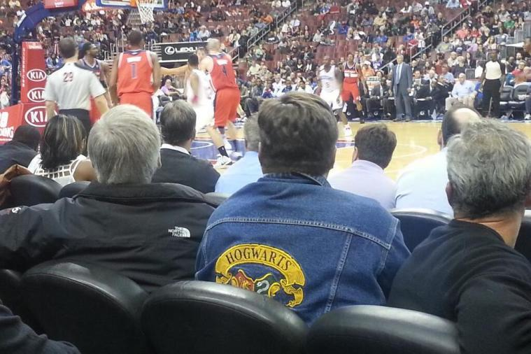 Harry Potter and Washington Wizards Fan Wears Hogwarts Jacket to Game