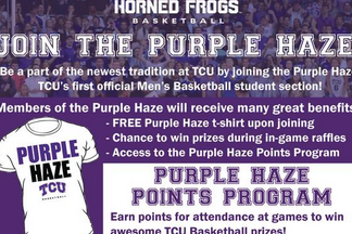 "TCU Unveils Name for Its Basketball Student Section: ""Purple Haze"""