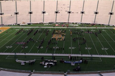 Photo: Baylor Band Helps with Marriage Proposal Before Oklahoma Game