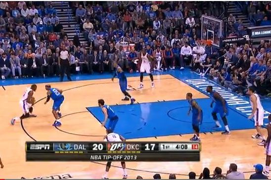 Kevin Durant Uses Nice Crossover Against Vince Carter and Finishes at the Rim