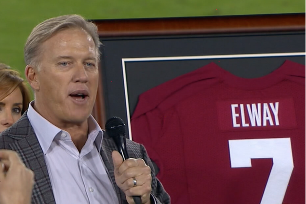 Stanford Retires John Elway's Jersey at Halftime vs. Oregon