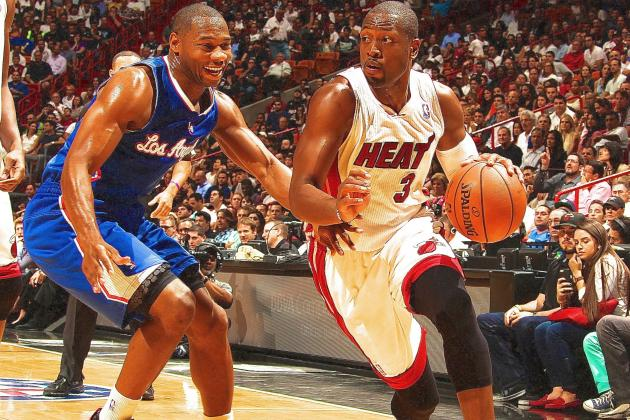 Dwyane Wade, Not Giving Way, Gives Miami a Win Against Clippers