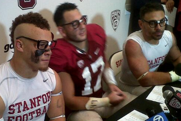 Stanford 'Nerds' at Presser After Win over UO