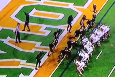Baylor Safety Pumps Up the Crowd, Almost Misses the Play in the Process