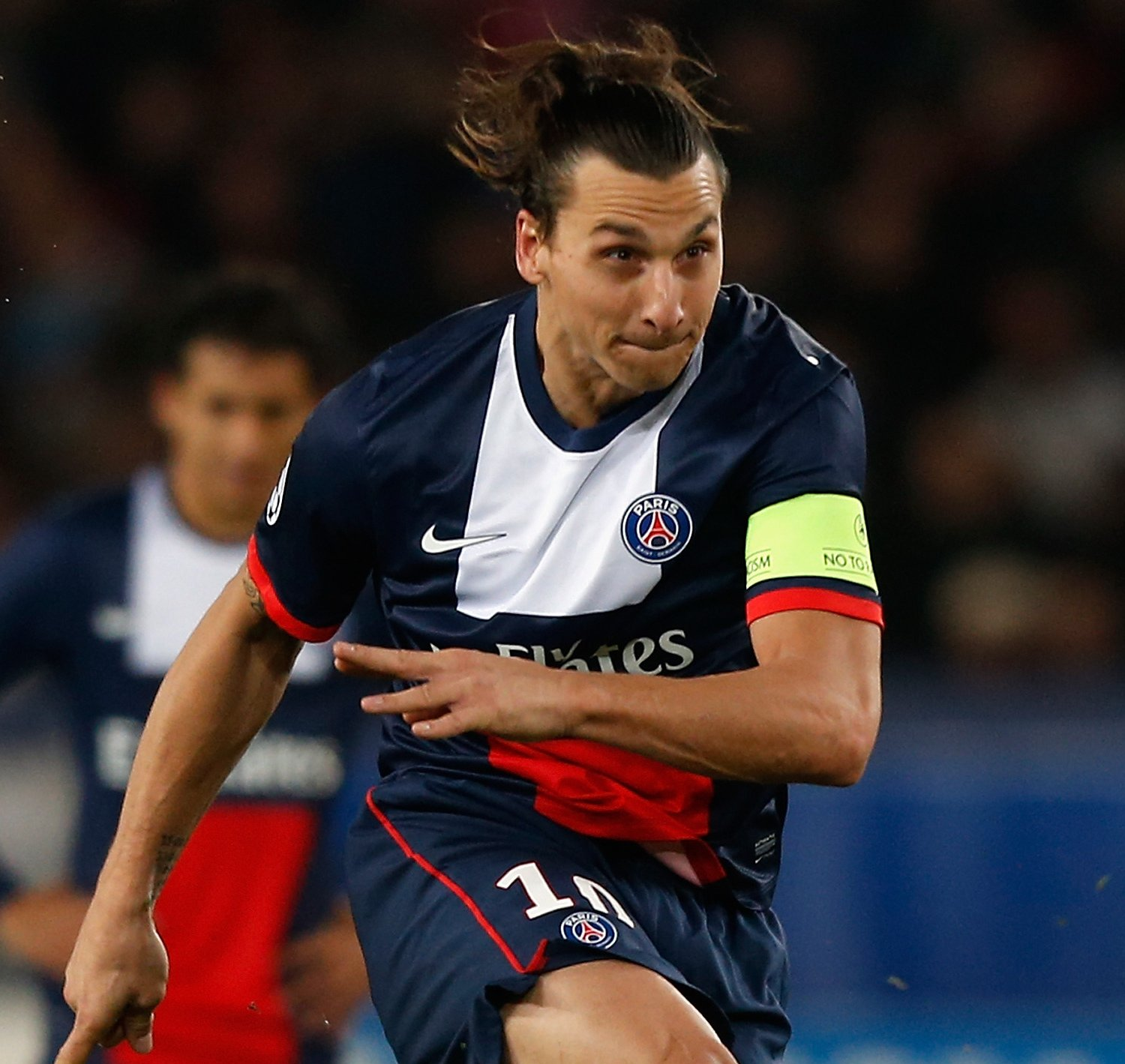 Lucas Moura Of Psg In Action During The Ligue 1 Match: GIFs: Zlatan Ibrahimovic Scores Hat-Trick To Lead PSG Past