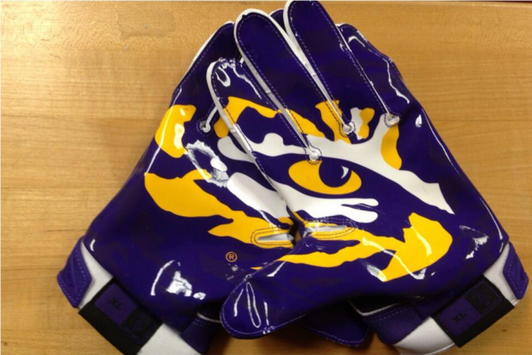 LSU Breaks out Sweet Gloves for Clash with Alabama