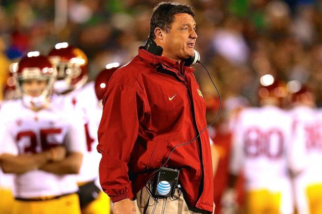 Ed Orgeron Is Making It Harder Each Week for USC to Go in Another Direction