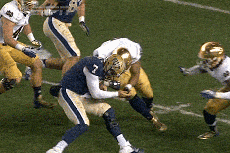 Notre Dame DL Stephon Tuitt Ejected for Targeting Pitt QB Tom Savage