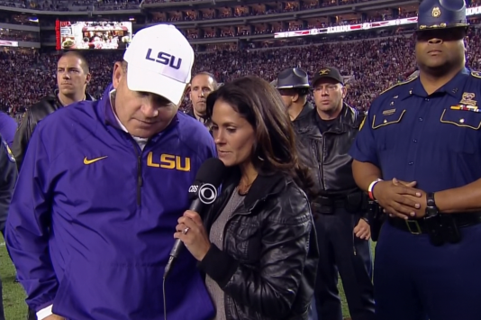 Check out Les Miles' Ridiculous Security Detail for Game at Alabama