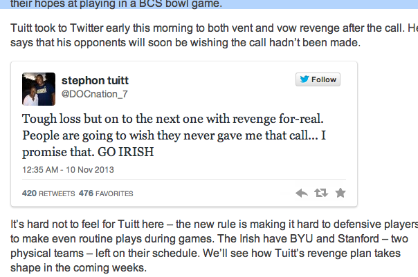 Tuitt Vents About Ejection on Twitter, Vows Revenge