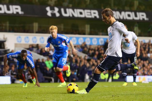 Tottenham's Roberto Soldado Practices Penalty Technique by Playing FIFA 14