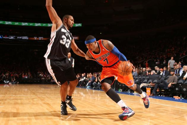Breaking Down How NY Knicks Aren't Relying Solely on Carmelo Anthony Hero Ball