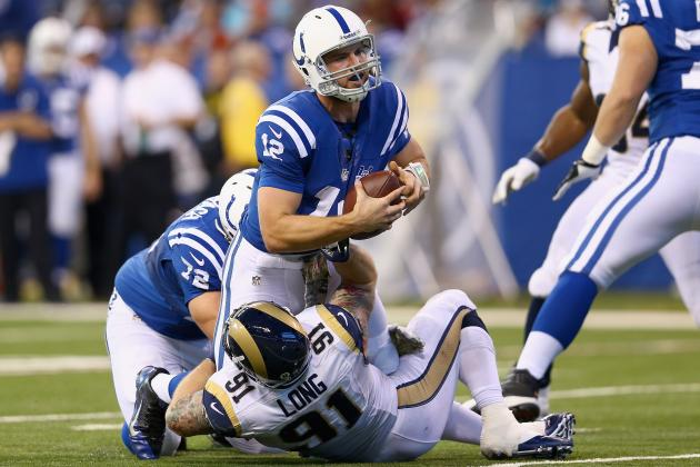 Offensive Line a Serious Concern for Colts After Game vs. St. Louis Rams