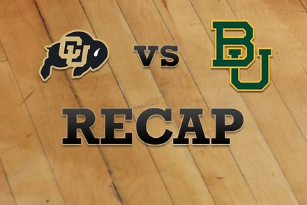 Colorado vs. Baylor: Recap, Stats, and Box Score