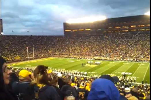 Did Michigan's President Deliver a Drunken Halftime Speech Yesterday?