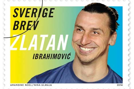 Zlatan Ibrahimovic to Be Featured in Line of Swedish Stamps (Photo)
